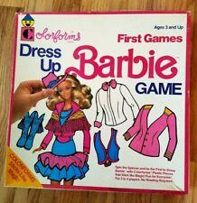 Muñeca Barbie Dress Up Colorforms juegos first Juguete edades 3+ 1990 no 7956 + Folleto