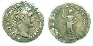 DOMITIAN ( as Augustus)  Silver denarius Minerva Rome