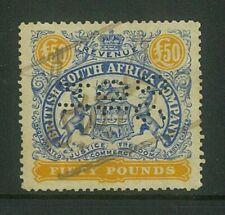 RHODESIA - 1896 £50 Large arms Revenue used (Perf 12.5)...(EM780)