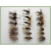 Dry Flies, 18 Sedge & Caddis Patterns, Trout Flies,  Fishing Flies, Mixed 10/12