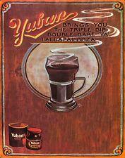 "TIN SIGN"" Yuban Coffee"" Caffeine Deco  Garage Wall Decor"