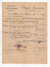fattura antica - OLIMPIA BERGAMASCO CAPPELLI PER SIGNORA TORINO 1908