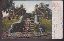 Antique Postcard - Flower Beds, Como Park, St. Paul, Minnesota - 1908