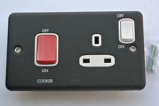 Legrand 8197 67 Cuisinière Unité 45 bis + 13a socket partie blanche noir mat m compatible