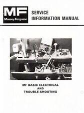 Massey Ferguson MF-750 760 850 860 700 800 Combine Electrical Service Manual