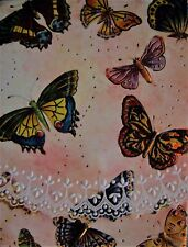 Carol Wilson Purse Embossed Note Pad Butterfly Butterflies Magnetic 90 Sheets