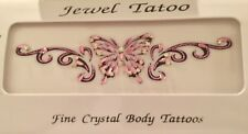 CALIFORNIA TRAMP STAMPS LOW BACK CRYSTAL TATTOOS ARMS VAJAZZLE TOO MADE WITH SWA