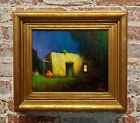 Will Sparks -Adobe House at Twilight -1920s Oil painting