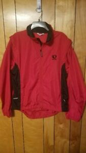Pearl Izumi Zephrr Cycling Jacket Vest size L/XL Full Zip Sleeves detach Vest A2