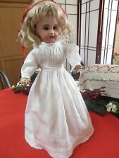 """Antique 1880/1900 White Doll Dress 13 """" for Antique French Doll"""