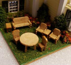 Miniature :144 Scale Patio or Fairy Garden Furniture Set ASSEMBLED