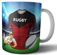 Les croisés de rugby aux couleurs de tasse-Anniversaire-Noël-Stocking Filler