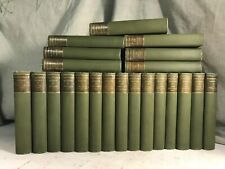 New listing William Makepeace Thackeray's Works Antique Book Green Linen Binding Literature