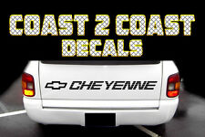 Chevrolet CHEYENNE  BLACK tailgate Decal (STEPSIDE)