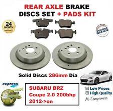 Pour Subaru Brz Coupé 2.0 200bhp 2012- > sur Plaquette Frein Arrière + Uni