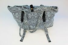 Free People Women's Blue Tribal Print Linen Blend Boho Gypsy Style Bag Purse