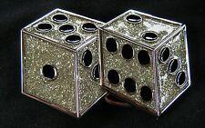 LUCKY DICE GAMES CASINO SLOTS CRAPS DOUBLE DEUCE POKER VEGAS BELT BUCKLE BOUCLE