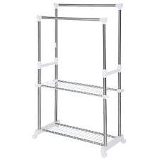 Attaccapanni appendiabiti altezza regolabile stender porta oggetti acciaio inox