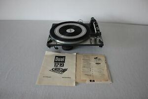 Dual 1219 Plattenspieler Chassis,Turntable, Shure M91, Überholt
