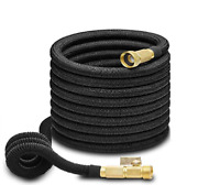 50ft Garden Hose All Expandable Water W Double Latex Core 3/4 Solid Brass Fittin