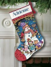 Dimensions-counted cross stitch-stocking kit-mignon carolers-D08751