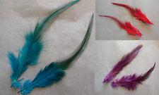 2pcs despojado Sombrero De Monte Feather sombrerería hágalo usted mismo Craft Pluma 3 Colores opciones