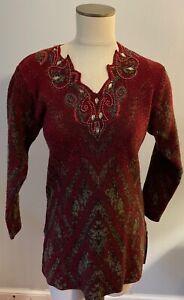 OSTER S Norwegian Wool Tunic Sweater Top