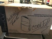 New Pampered Chef Chillzanne Cooler # 2782 Retired Ice Bucket Freezable Inserts