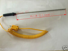 K-type High Temperature sensor -50~+1300°C Thermocouple Probe Thermometer 19.1CM