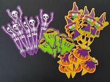 Cupcake Picks - Halloween - Witch,Cauldron, RIP & Skeleton-x 24 Cake Decorations