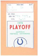 Cincinnati Bengals at Baltimore Colts 12-26-1970 AFC Divisional playoff ticket