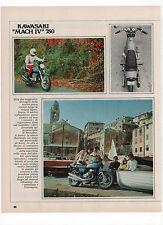 Pubblicità 1971 KAWASAKI MACH IV 750 MOTO MOTOR advert werbung publicitè reklame
