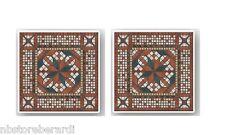 Rosone Mosaico Marmo su Rete 60,5 x 60,5 Pezzi Unici Pavimenti Rivestimenti