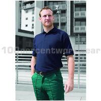 Warrior Heavyweight Polycotton Short Sleeve Mens Work Polo Shirt Black Navy Blue