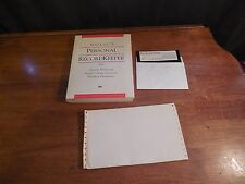 1992 NOLO'S PERSONAL RECORD KEEPER 3.0 DOS W/ MANUAL & DISK FREE SHIPPING