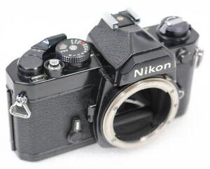 Nikon FM 35mm Film SLR Camera BLACK Body Only Vintage