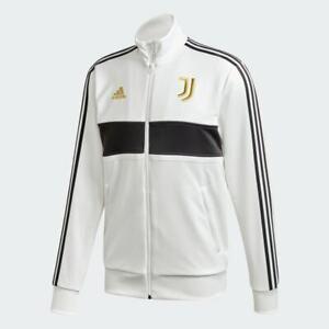 Adidas Juventus 3-Stripes Track Jacket Football Full Zip Top White - [Large]