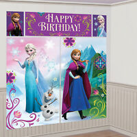 5 Disney Frozen Scene Setters Wall Decorations Birthday Party Banner Bunting