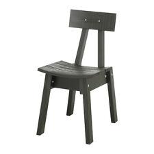 IKEA INDUSTRIELL Stuhl In Grunschwarz Aus Massiver Kiefer Esszimmerstuhl