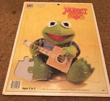 VINTAGE 1984 MUPPET BABIES KERMIT FRAME-TRAY PUZZLE