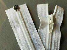 "10 White YKK 11"" 28cm No5 Spiral Open End Zips Zippers"