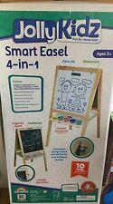 Jolly Kidz Smart Easel 4 in 1 Childrens Blackboard Magnetic Whiteboard Chalk
