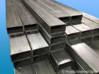 Sonderposten Edelstahl Vierkantrohr 100 x 50 x 4 mm roh V2A zum Tiefstpreis