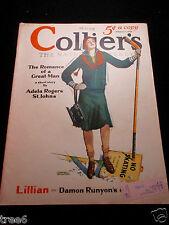 2/1/30  COLLIERS MAGAZINE EDMUND DAVENPORT COVER GRANTLAND RICE RUBE GOLDBURG