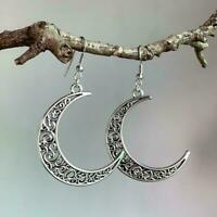 Moon Stud Earring Pendant Necklace Sterling Silver Gift Jewellery Womens P9Z9