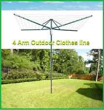 New Design 45 Rotary 4-Arm Outdoor Foldable Clothes line Clothing Line^