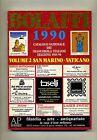 CATALOGO NAZIONALE FRANCOBOLLI ITALIANI 1990-SAN MARINO VATICANO #Bolaffi 1989