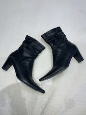 RUSSELL & BROMLEY AQUATALIA LADIES BLACK LEATHER ANKLE BOOTS SIZE 39