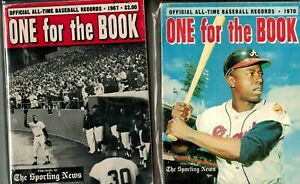 1967 and 1970 Willie Mays and Hank Aaron TSN One for the Book (2 Books)