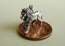 BEAUTIFUL  ' LION '  SOLID STERLING SILVER 3D  CHARM  CHARMS